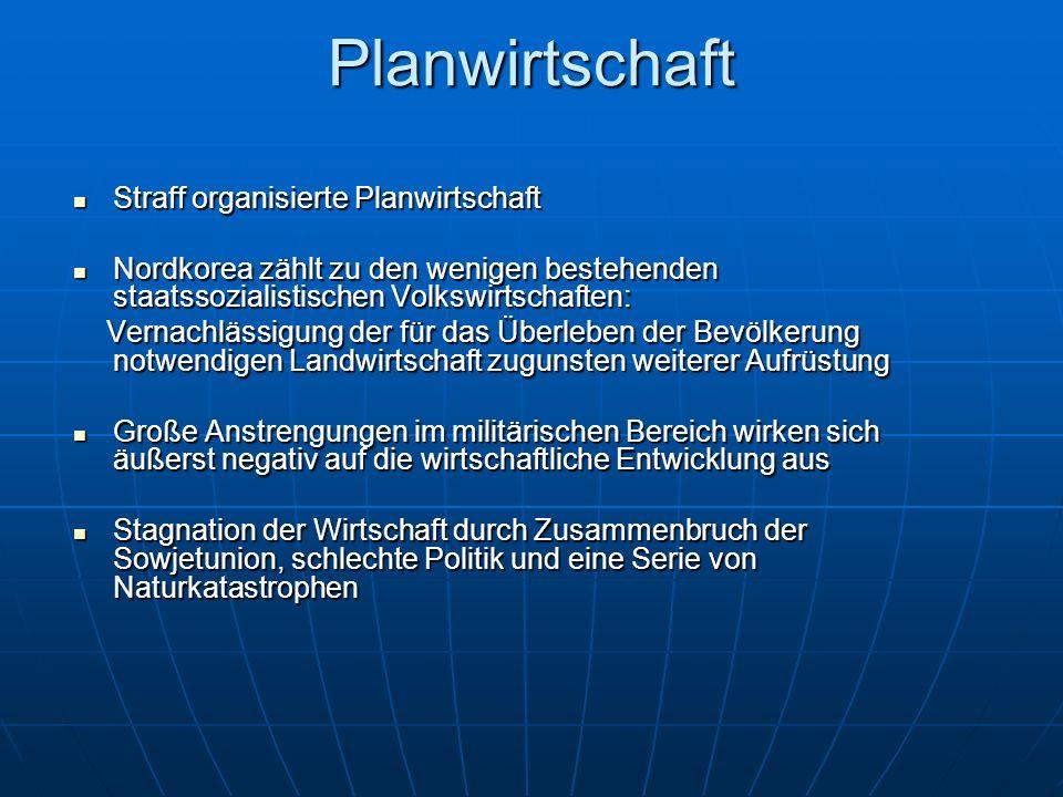 Planwirtschaft Straff organisierte Planwirtschaft