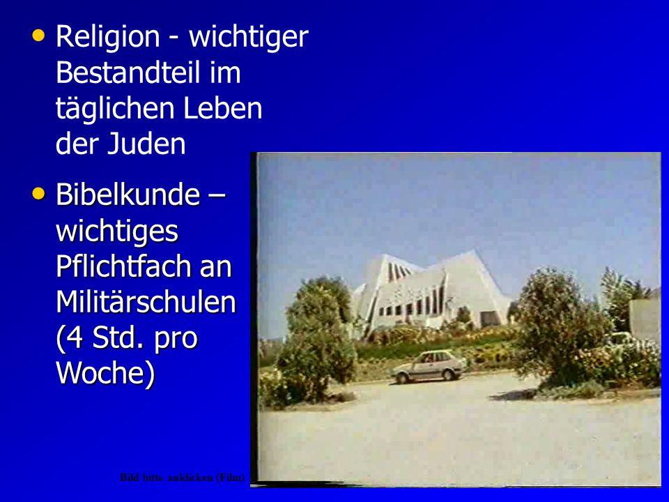 Religion - wichtiger Bestandteil im täglichen Leben der Juden