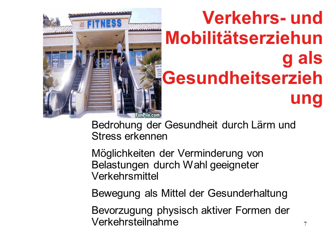 Verkehrs- und Mobilitätserziehung als Gesundheitserziehung