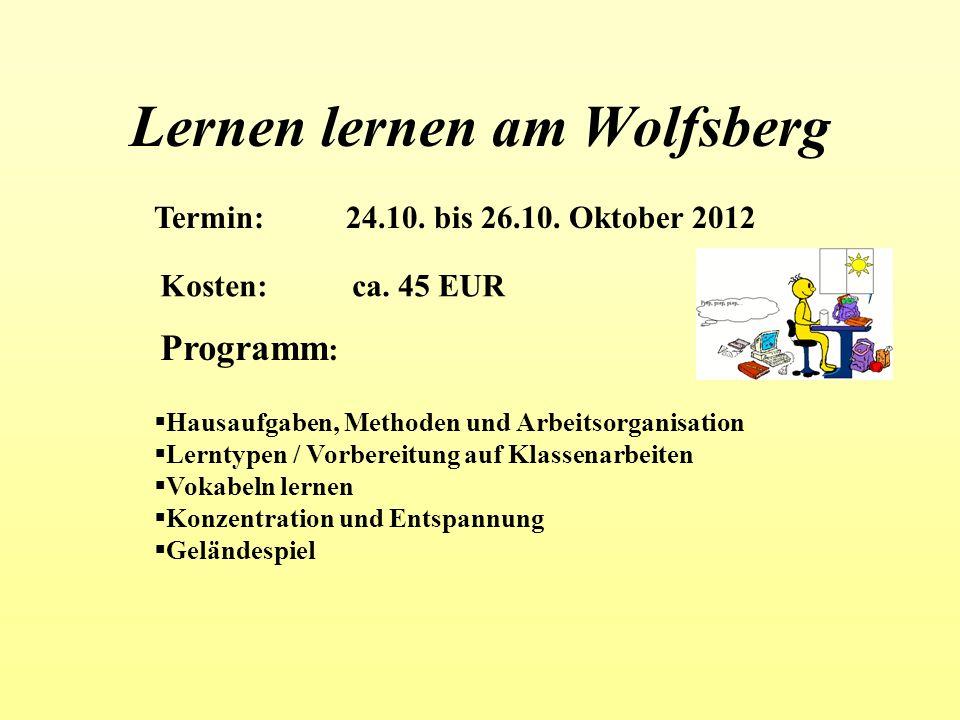 Lernen lernen am Wolfsberg