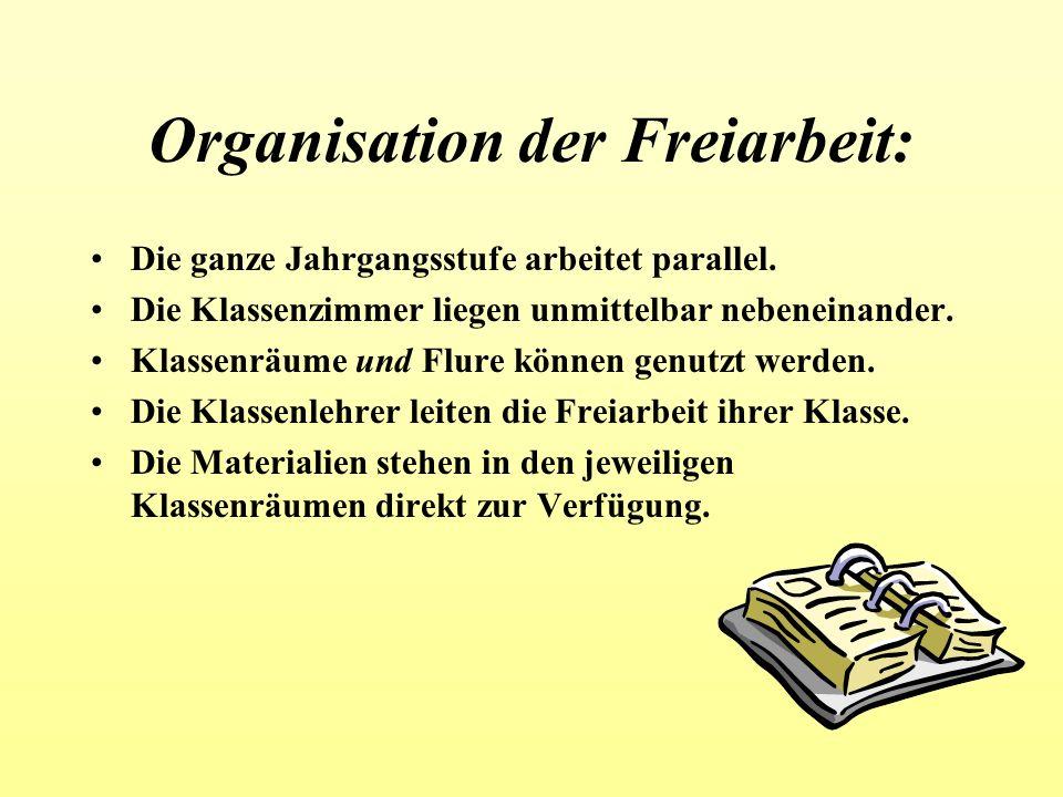 Organisation der Freiarbeit: