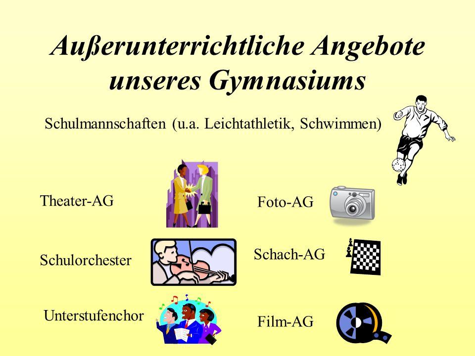Außerunterrichtliche Angebote unseres Gymnasiums