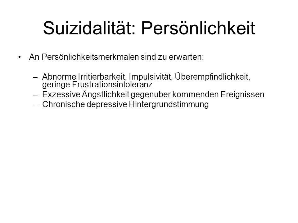 Suizidalität: Persönlichkeit