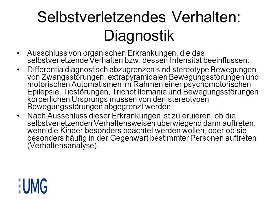 Selbstverletzendes Verhalten: Diagnostik