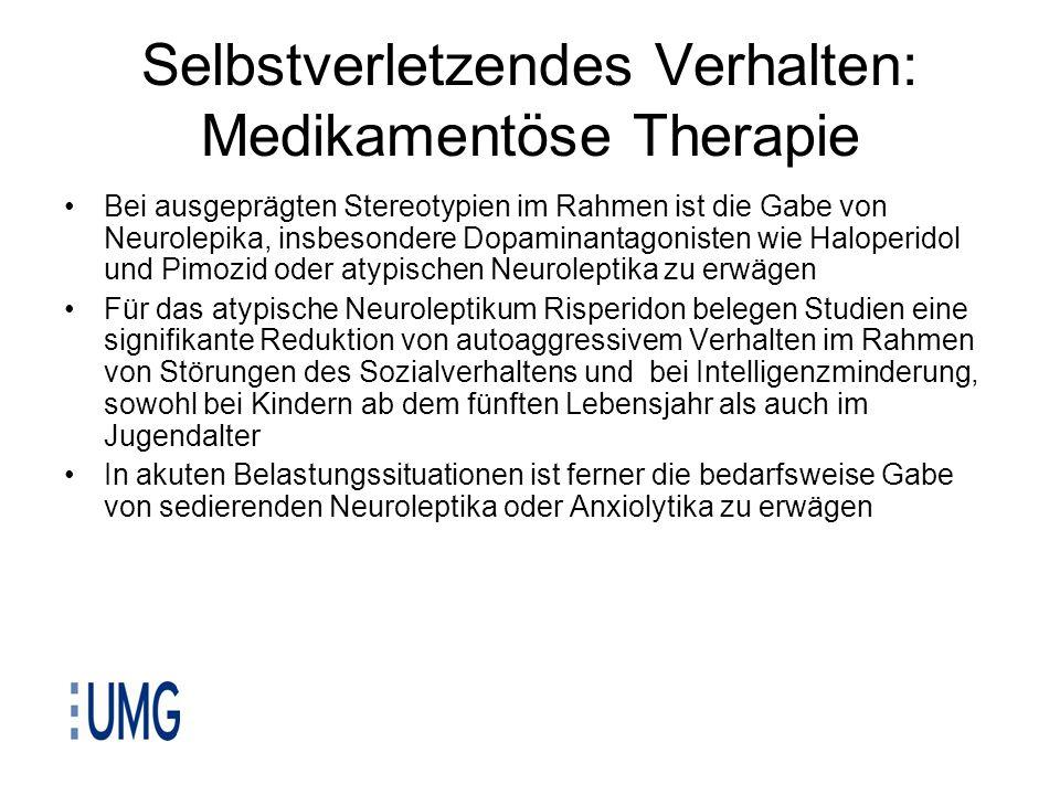 Selbstverletzendes Verhalten: Medikamentöse Therapie