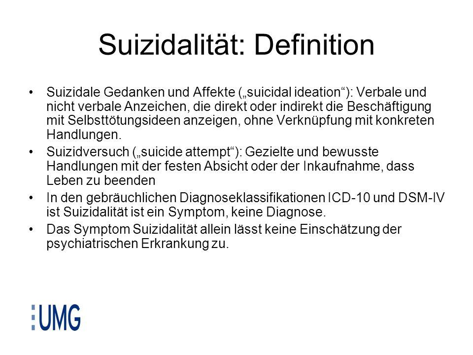 Suizidalität: Definition