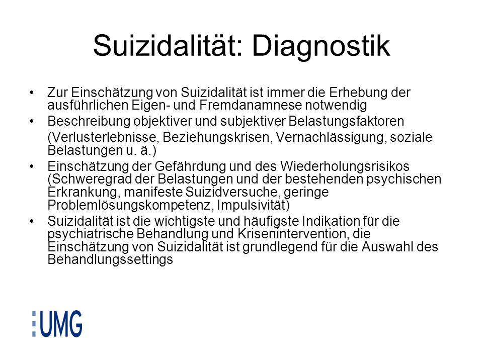 Suizidalität: Diagnostik