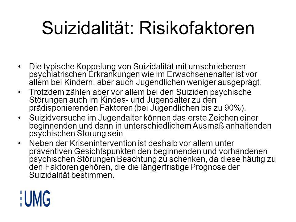 Suizidalität: Risikofaktoren