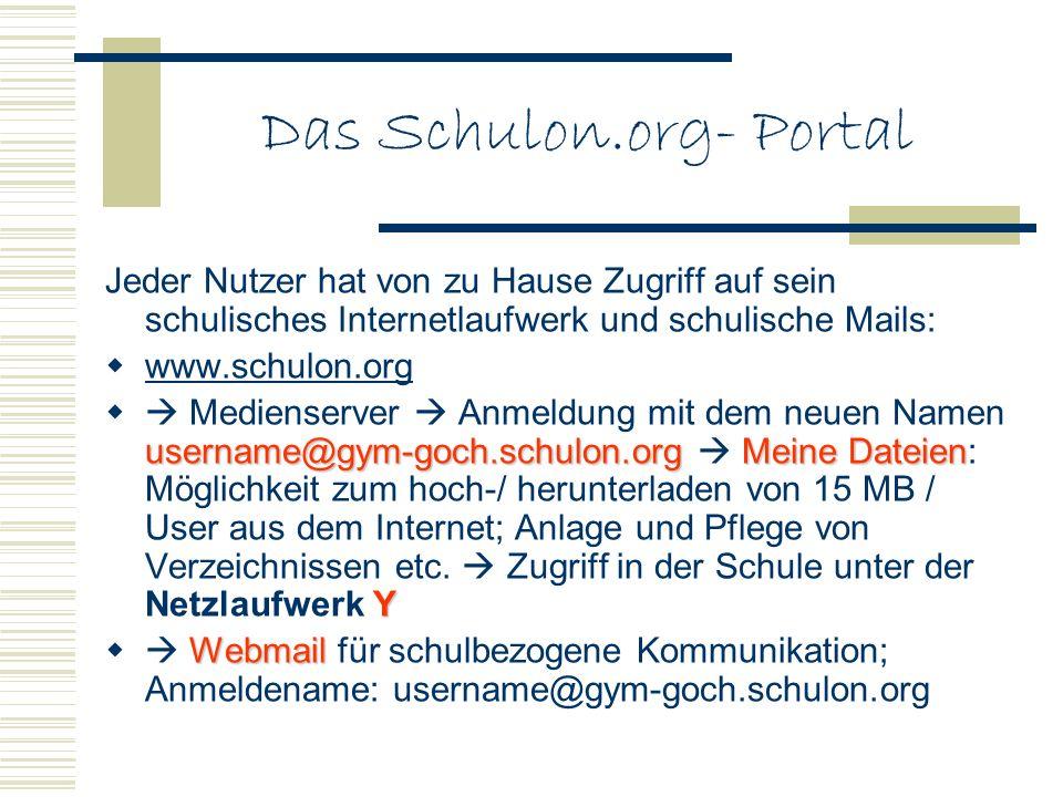 Das Schulon.org- Portal