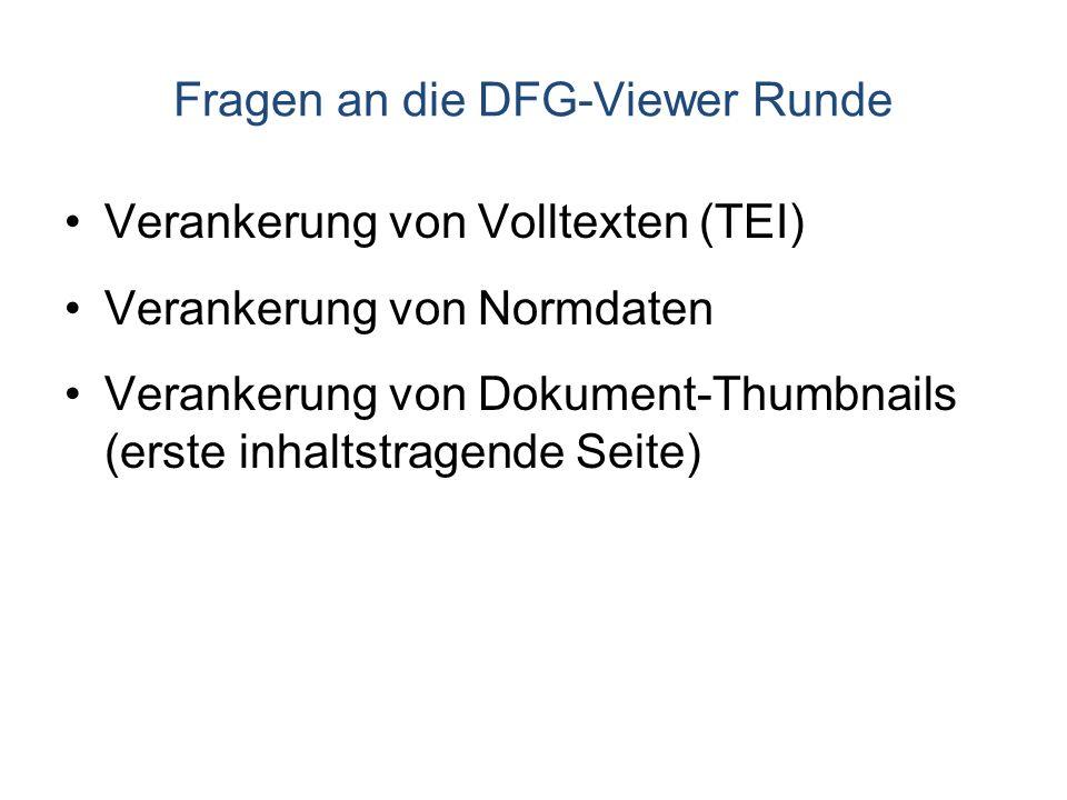 Fragen an die DFG-Viewer Runde
