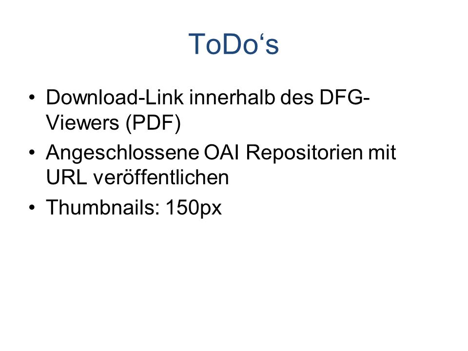 ToDo's Download-Link innerhalb des DFG-Viewers (PDF)