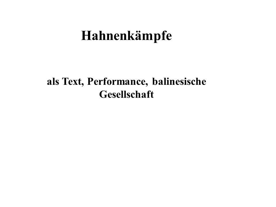 als Text, Performance, balinesische Gesellschaft