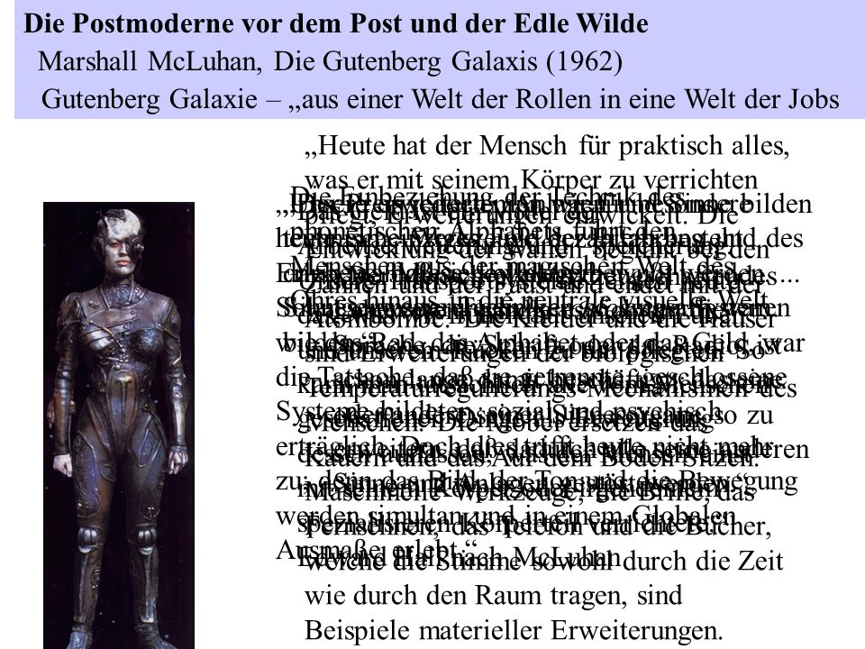 """Gutenberg Galaxie – """"aus einer Welt der Rollen in eine Welt der Jobs"""