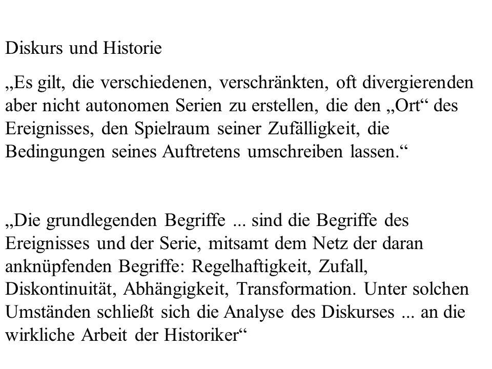 Diskurs und Historie