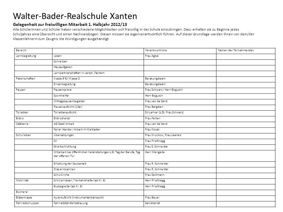 Walter-Bader-Realschule Xanten