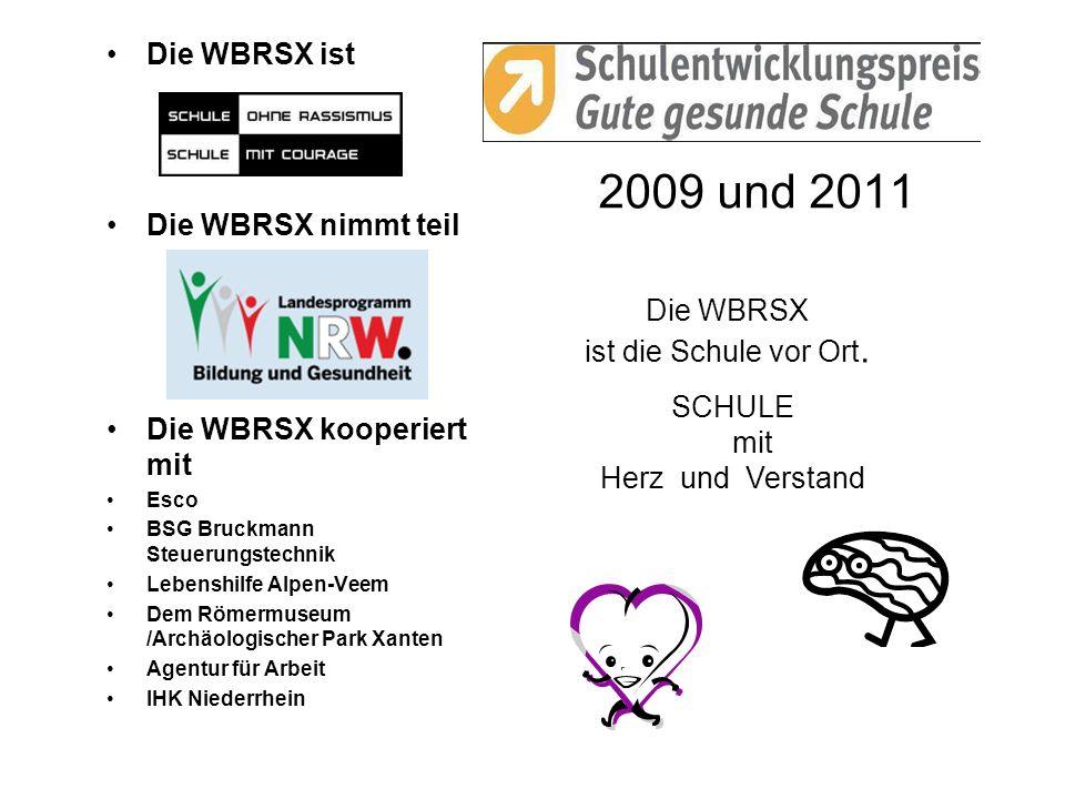 2009 und 2011 Die WBRSX ist Die WBRSX nimmt teil