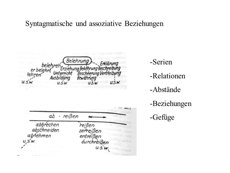 Syntagmatische und assoziative Beziehungen