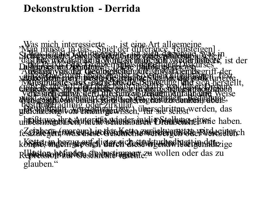 Dekonstruktion - Derrida