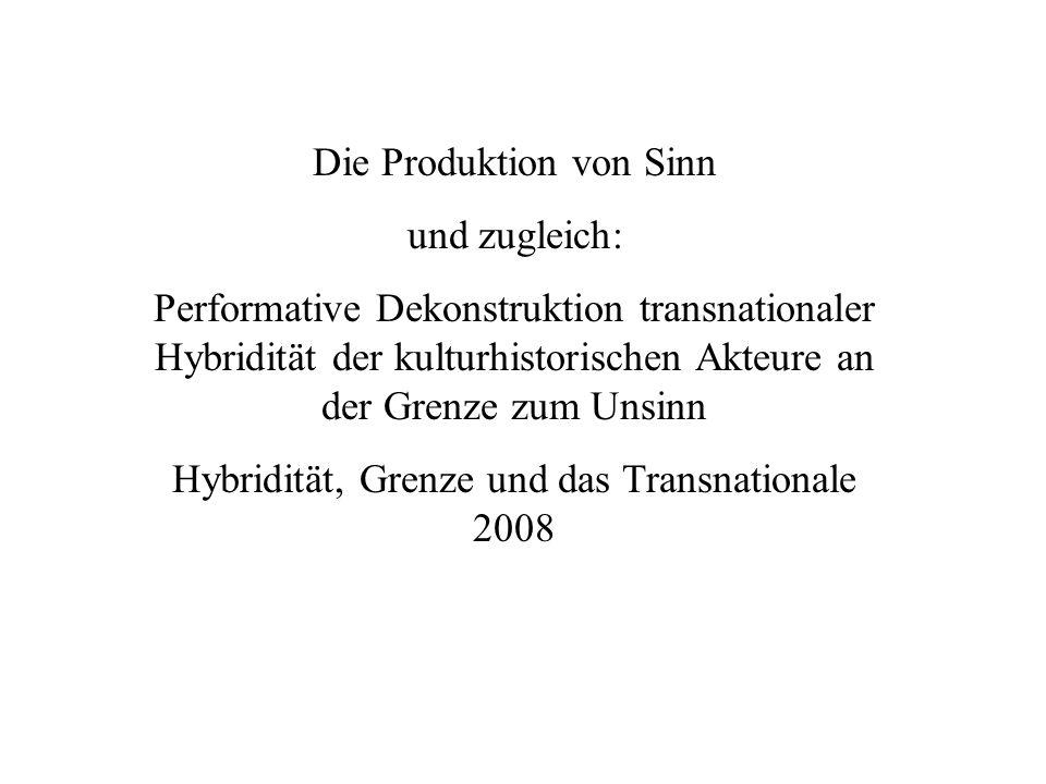 Die Produktion von Sinn und zugleich: