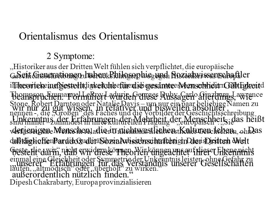 Orientalismus des Orientalismus 2 Symptome: