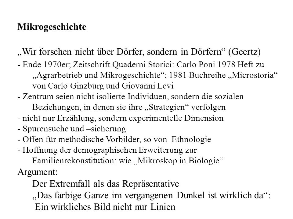 """""""Wir forschen nicht über Dörfer, sondern in Dörfern (Geertz)"""