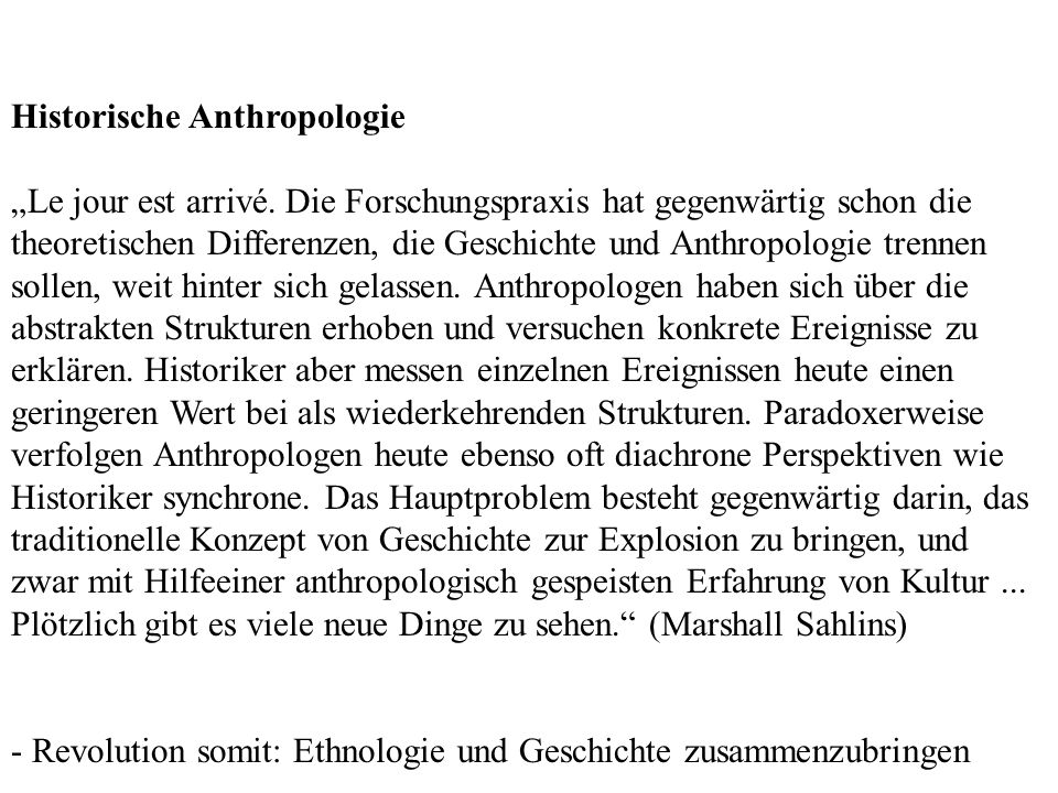 Historische Anthropologie