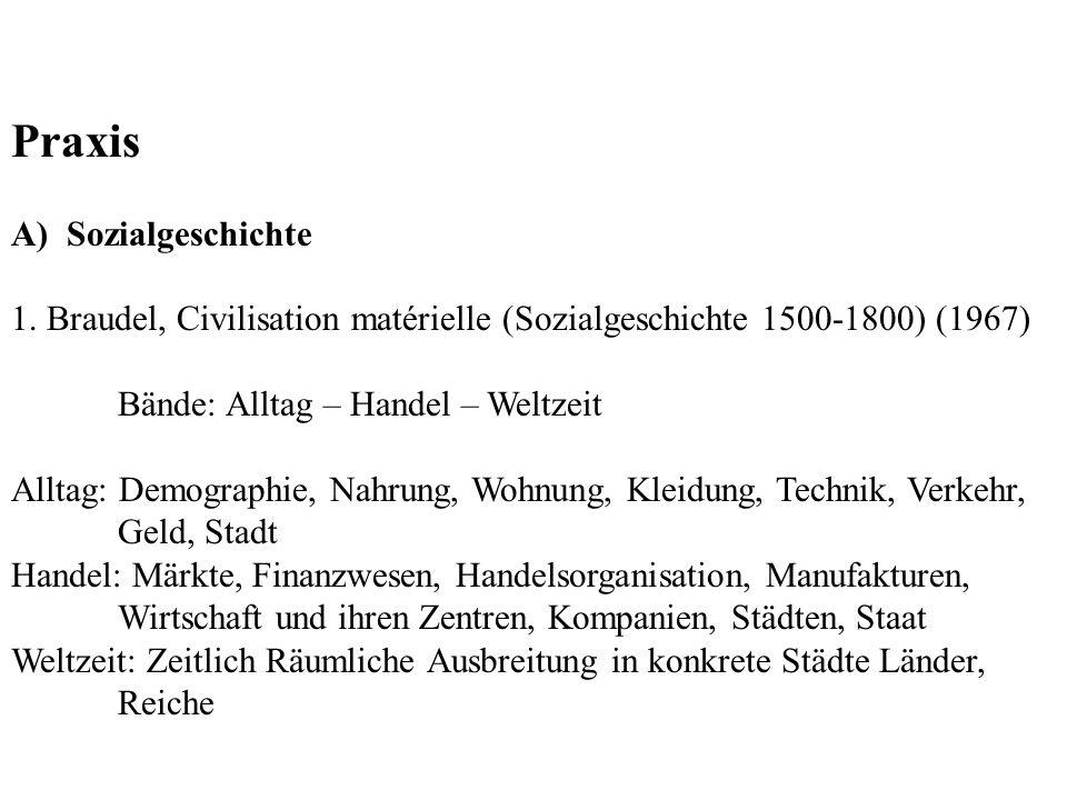 Praxis A) Sozialgeschichte