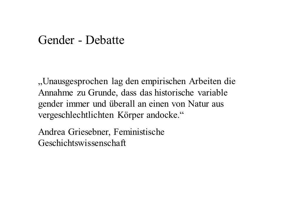 Gender - Debatte