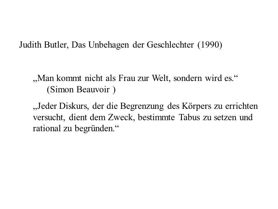 Judith Butler, Das Unbehagen der Geschlechter (1990)