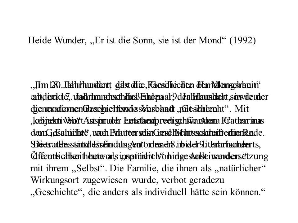 """Heide Wunder, """"Er ist die Sonn, sie ist der Mond (1992)"""