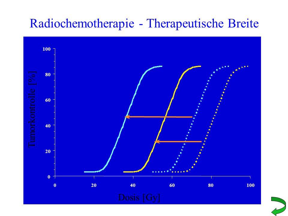 Radiochemotherapie - Therapeutische Breite