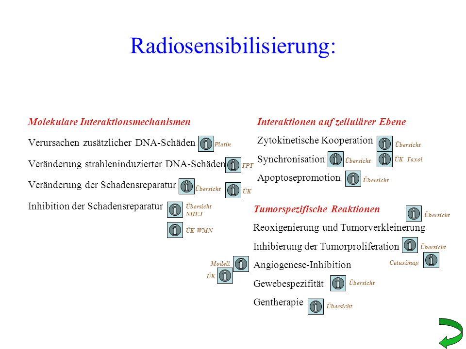 Radiosensibilisierung: