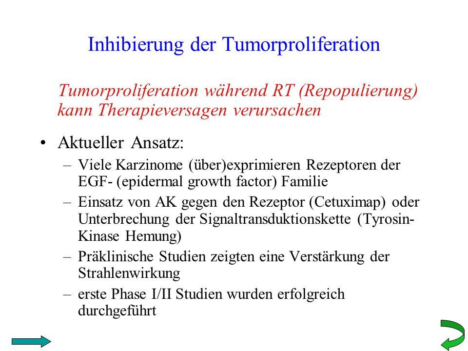 Inhibierung der Tumorproliferation