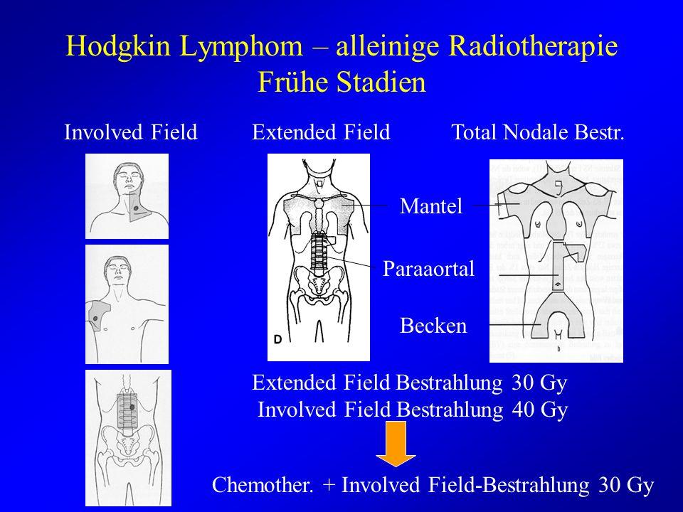 Hodgkin Lymphom – alleinige Radiotherapie Frühe Stadien