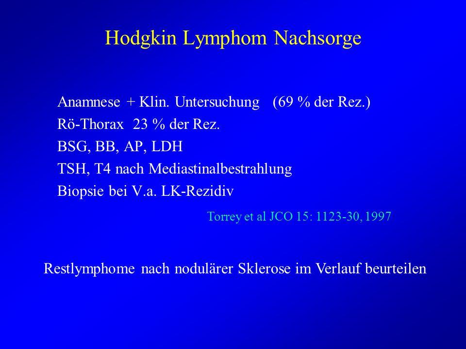 Hodgkin Lymphom Nachsorge