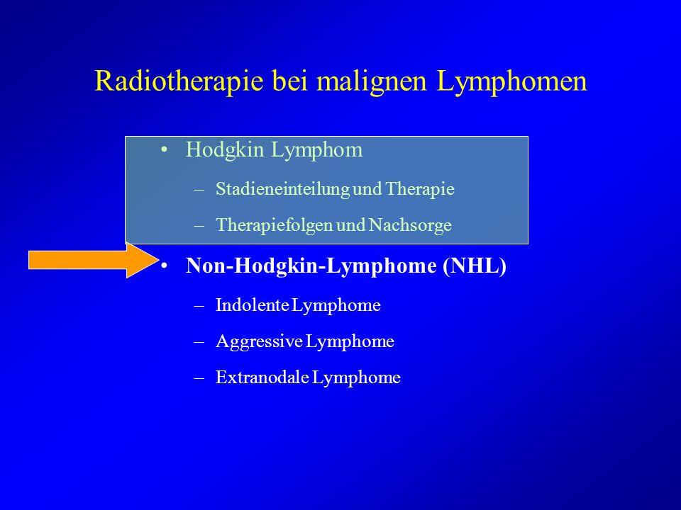 Radiotherapie bei malignen Lymphomen