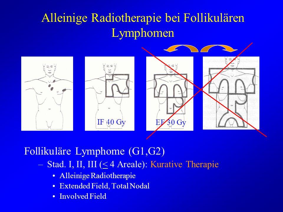Alleinige Radiotherapie bei Follikulären Lymphomen