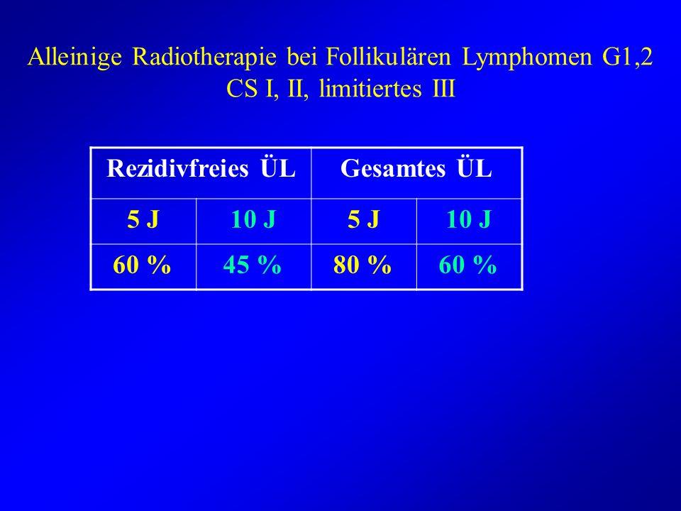 Alleinige Radiotherapie bei Follikulären Lymphomen G1,2