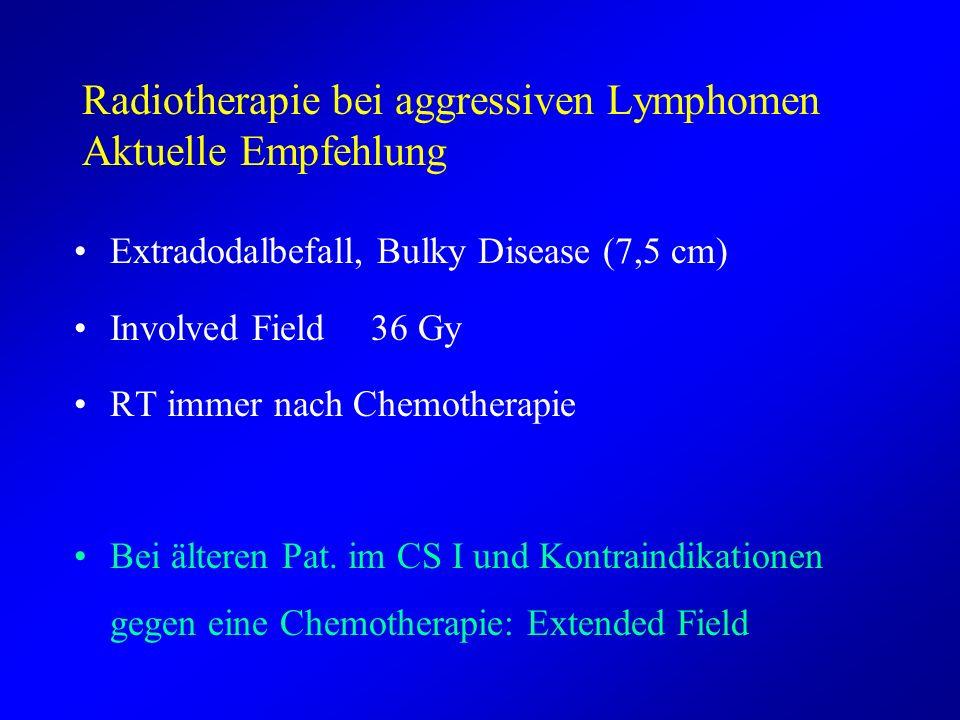 Radiotherapie bei aggressiven Lymphomen Aktuelle Empfehlung