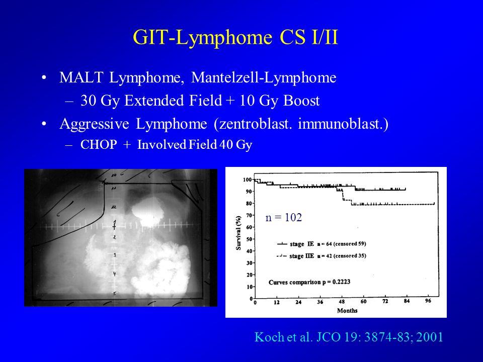 GIT-Lymphome CS I/II MALT Lymphome, Mantelzell-Lymphome