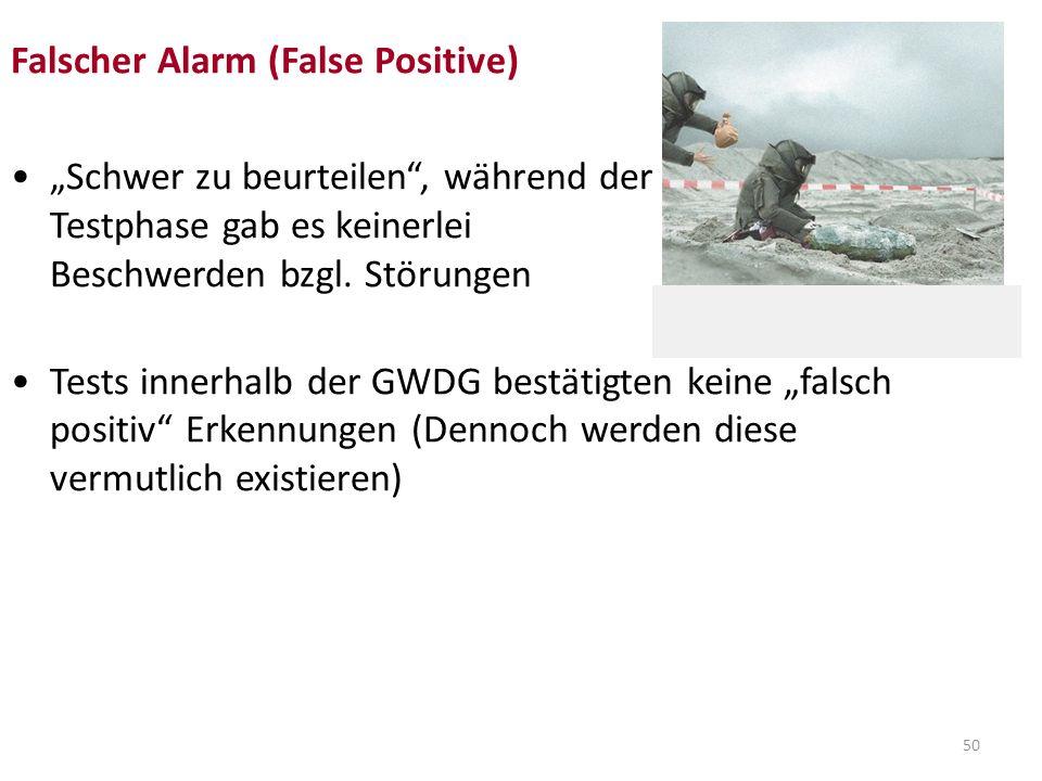 Falscher Alarm (False Positive)