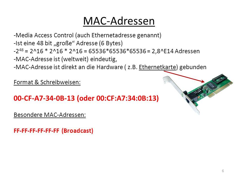 MAC-Adressen 00-CF-A7-34-0B-13 (oder 00:CF:A7:34:0B:13)
