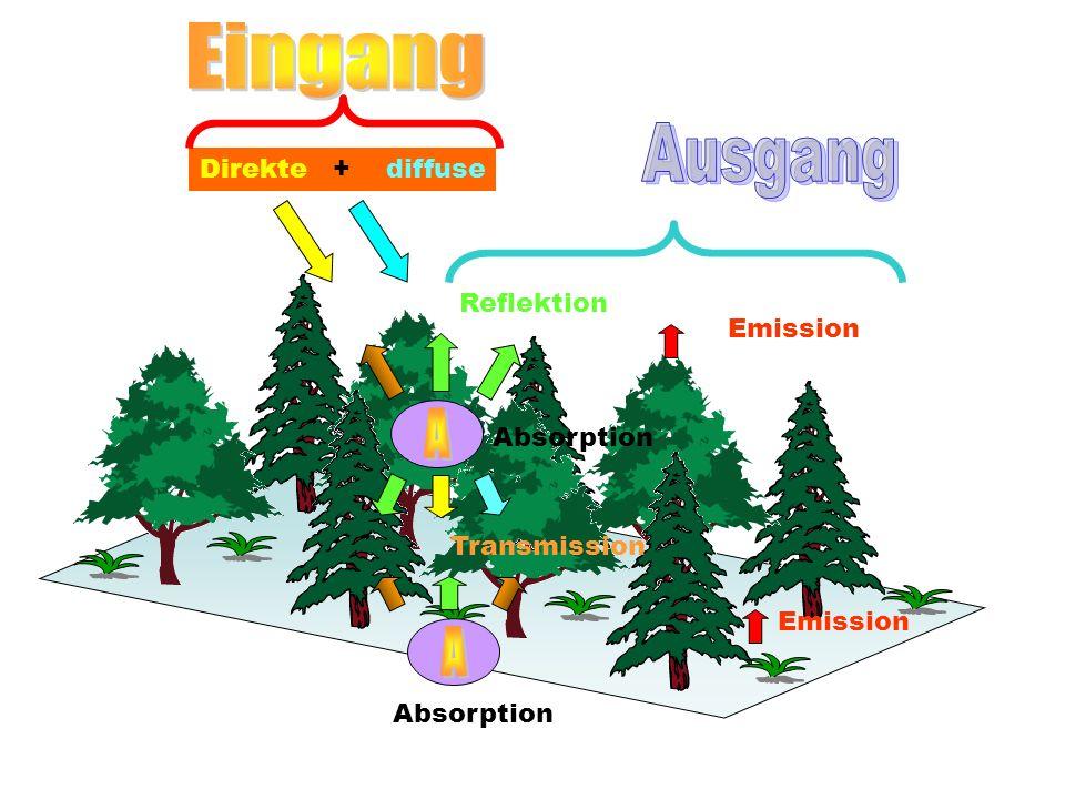 Eingang Ausgang A A Direkte + diffuse Reflektion Emission Absorption