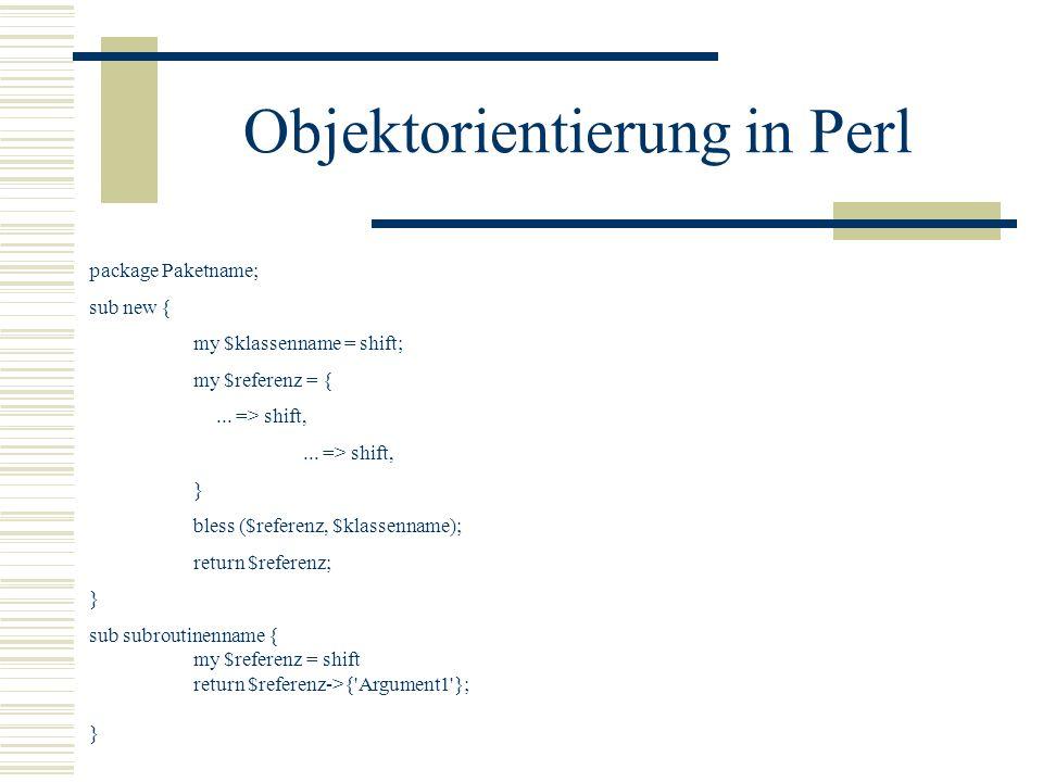 Objektorientierung in Perl