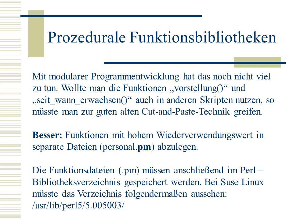 Prozedurale Funktionsbibliotheken