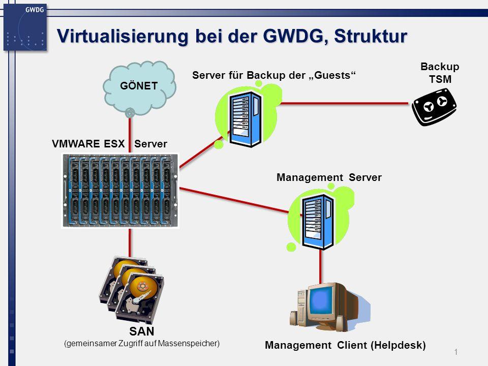 Virtualisierung bei der GWDG, Struktur
