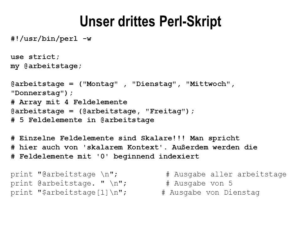 Unser drittes Perl-Skript