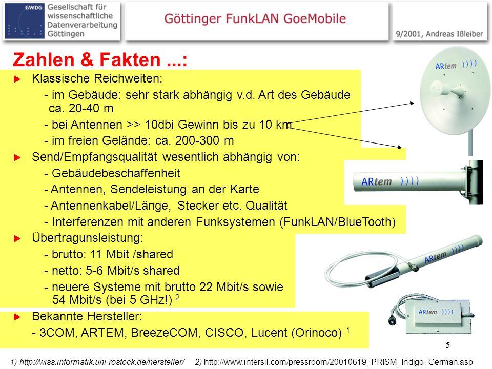 Zahlen & Fakten ...: Klassische Reichweiten: