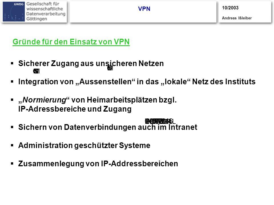 Gründe für den Einsatz von VPN