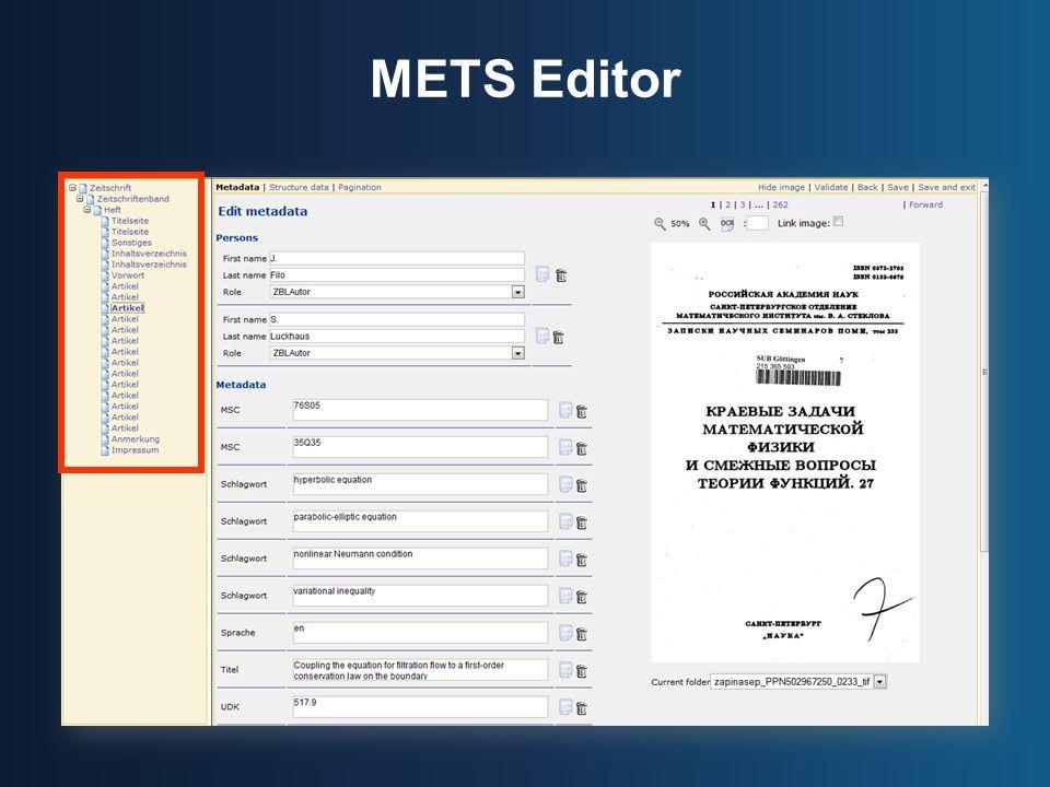METS Editor